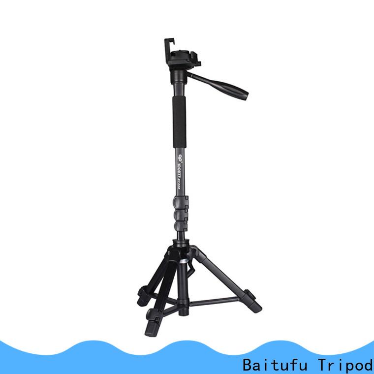 Baitufu portable hd video camera tripod factory for smart phone
